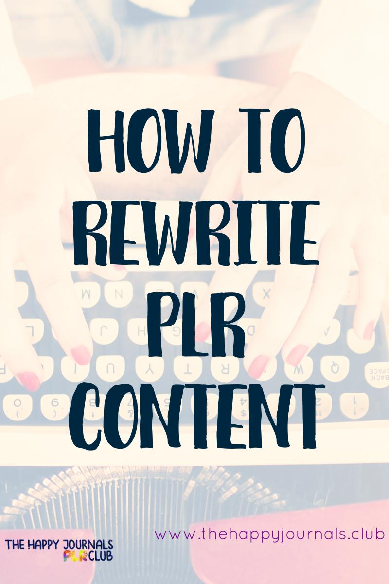 rewrite plr, how to rewrite plr ebook, article rewrite