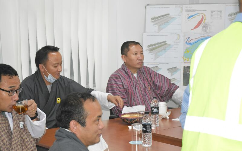 Ministers visit at PTDP site