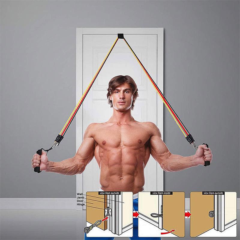 AILOVA Pull Rope Suit,150 lbs Widerstandsb/änder Set Fitness-/Übungsb/änder mit 5 stapelbaren /Übungsb/ändern f/ür Krafttraining Home Workout Yoga