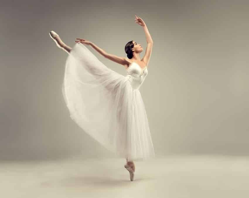 A beautifully graceful female ballet dancer