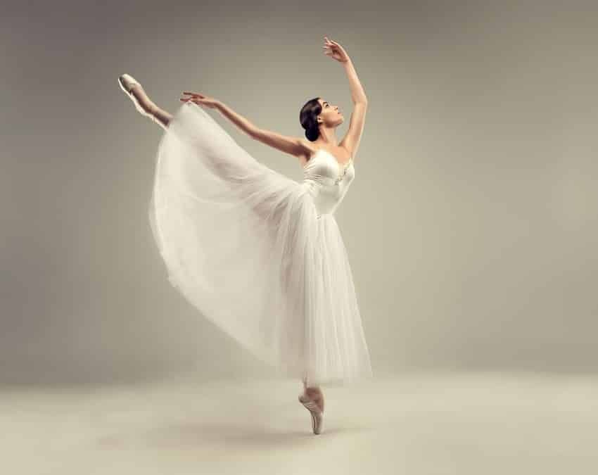 A beautifully graceful female ballet dancer
