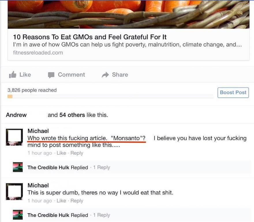 Monsanto shill