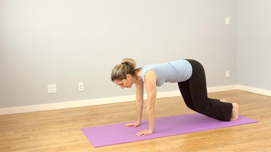 Lift knees - Morning Yoga Routine