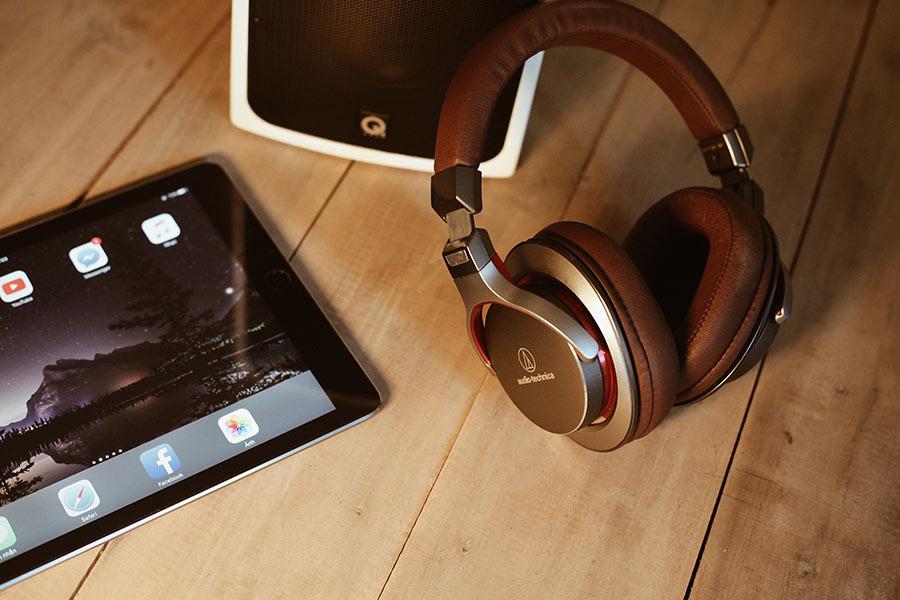 Falling Asleep Wearing Over-Ear Headphones Earbuds