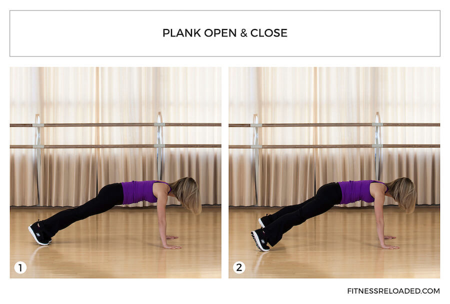 different types of planks - plank open and close
