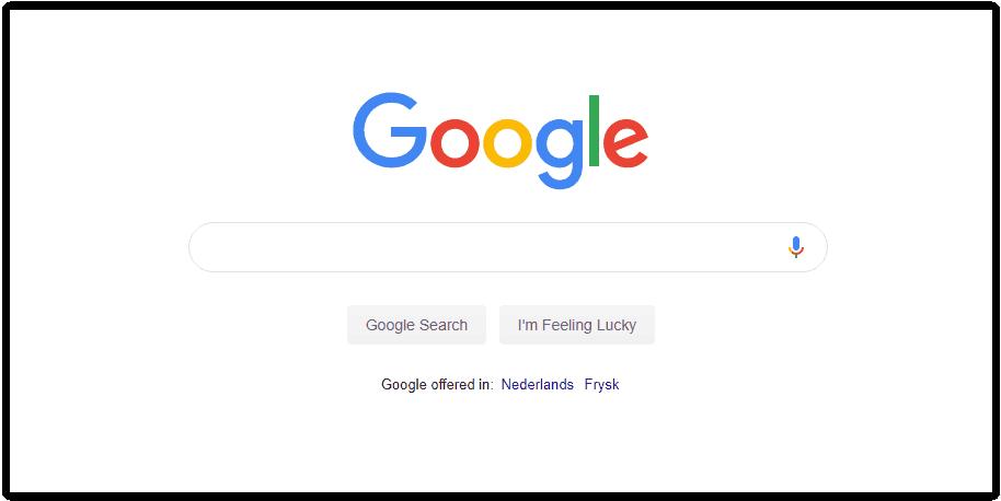 Google minimalistisch design superieur product