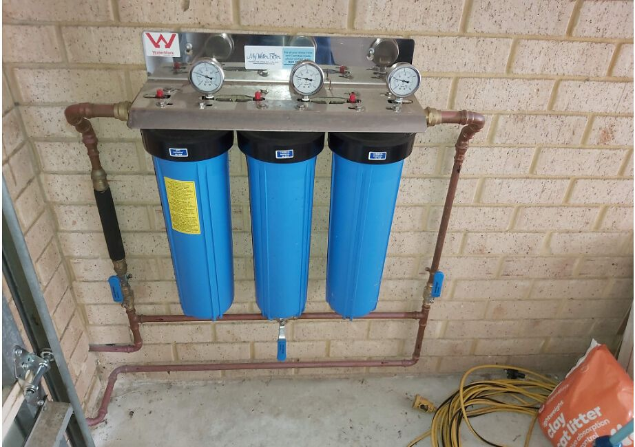 Whole House Water Filter Installed