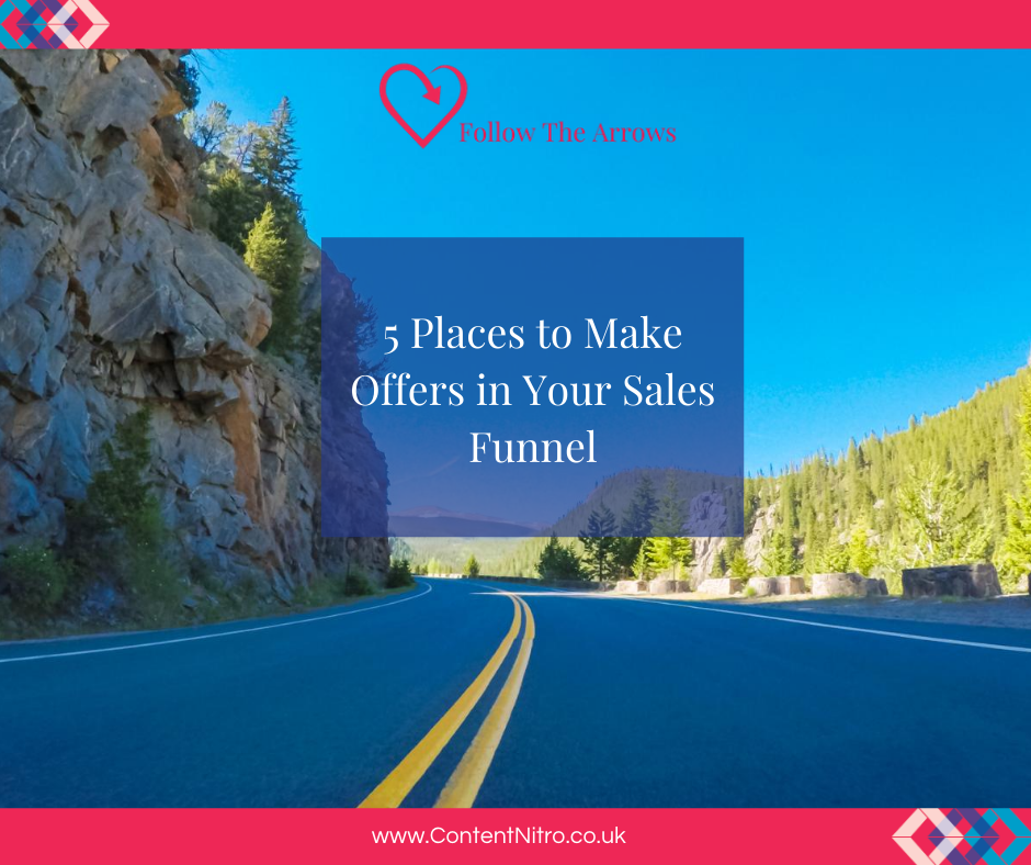 5 Places to Make Offers in Your Sales Funnel via @saraharrow