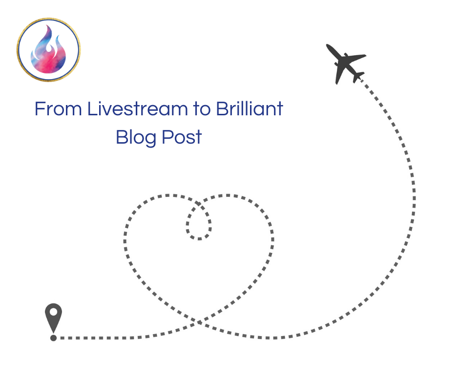 From Livestream to Brilliant Blog Post via @saraharrow